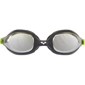 arena Spider Mirror Lunettes de protection Enfant, black-silver-green